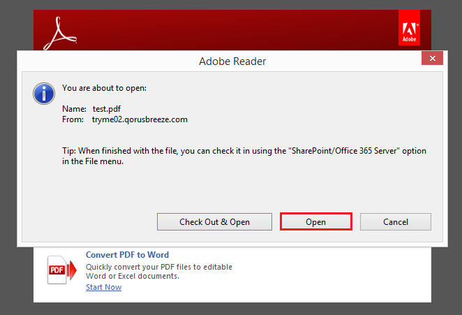how to open expired pdf documents